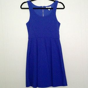 Aeropostale - Blue Pleated A-Line Babydoll Dress